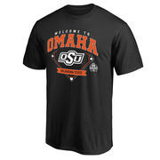 Men's Black Oklahoma State Cowboys 2016 NCAA Men's Baseball College World Series Bound Welcome to Omaha T-Shirt