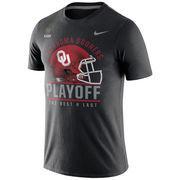Men's Nike Black Oklahoma Sooners 2016 College Football Playoffs Bound Helmet T-Shirt