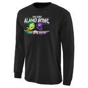 Men's Black TCU Horned Frogs vs. Oregon Ducks 2016 Alamo Bowl Bound Rundown Long Sleeve T-Shirt