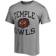 Men's Champion Gray Temple Owls Tradition T-Shirt