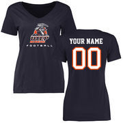 Women's Navy UTEP Miners Personalized Football Slim Fit T-Shirt