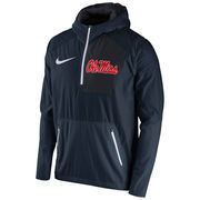 Men's Nike Navy Ole Miss Rebels 2016 Sideline Vapor Fly Rush Half-Zip Pullover Jacket
