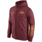Men's Nike Cardinal Iowa State Cyclones Circuit Full-Zip Performance Hoodie
