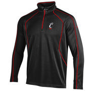 Men's Under Armour Black Cincinnati Bearcats Contrast Stitch 1/4-Zip Jacket