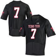 Texas Tech Red Raiders Under Armour No. 7 Replica Football Jersey - Black