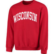 Men's Fanatics Branded Red Wisconsin Badgers Basic Arch Sweatshirt