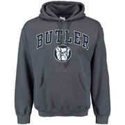 Men's Dark Gray Butler Bulldogs Midsize Arch Over Logo Hoodie