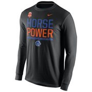 Mens Boise State Broncos Nike Black 2014 Fiesta Bowl Champions Locker Room Long Sleeve T-Shirt
