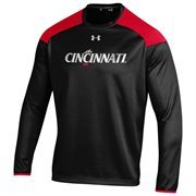 Men's Under Armour Black Cincinnati Bearcats Team Logo Ultimate Tech Performance Pullover Sweatshirt