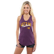 Women's Purple Northern Iowa Panthers Let's Go Racerback Tank Top