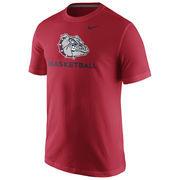 Men's Nike Red Gonzaga Bulldogs University Basketball T-Shirt