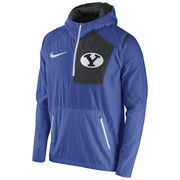Men's Nike Royal BYU Cougars 2016 Sideline Vapor Fly Rush Half-Zip Pullover Jacket