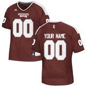 Women's Maroon Mississippi State Bulldogs Custom Replica Football Jersey