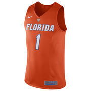 Men's Nike #1 Orange Florida Gators Hyper Elite Authentic Performance Basketball Jersey
