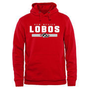 Scarlet New Mexico Lobos Team Strong Pullover Hoodie