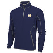 Mens Notre Dame Fighting Irish Antigua Navy Blue Ice Quarter-Zip Fleece Jacket