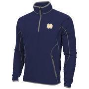 Mens Notre Dame Fighting Irish Antigua Navy Blue Ice Quarter-Zip Fleece Jacket