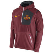 Men's Nike Cardinal Iowa State Cyclones 2016 Sideline Vapor Fly Rush Half-Zip Pullover Jacket