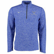 Air Force Falcons Nike Heather Element 1/4 Zip Performance Jacket - Royal Blue