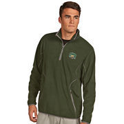 Men's Antigua Green Ohio Bobcats Ice Quarter-Zip Pullover Jacket