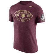 Men's Nike Heathered Garnet Florida State Seminoles Moments Tri-Blend T-Shirt