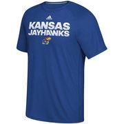 Men's adidas Royal Kansas Jayhawks 2016 Sideline Hustle Ultimate Climalite T-Shirt