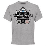 Men's Ash Virginia Cavaliers vs. Vanderbilt Commodores 2015 NCAA Men's Baseball College World Series Bound Dueling T-Shirt
