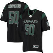 Men's Colosseum #50 Green Hawaii Warriors Hail Mary Football Jersey