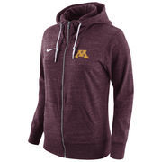 Women's Nike Maroon Minnesota Golden Gophers Tailgate Gym Vintage Full-Zip Hoodie