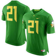 Men's Nike Apple Green Oregon Ducks #21 Limited Football Jersey