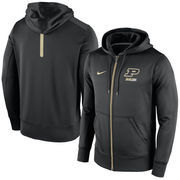 Men's Nike Black Purdue Boilermakers Sideline KO Fleece Full Zip Therma-FIT Hoodie