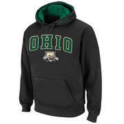 Men's Stadium Athletic Charcoal Ohio Bobcats Arch & Logo Pullover Hoodie