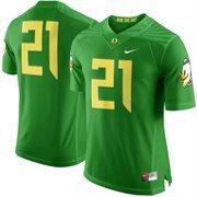 Men's Nike Apple Green Oregon Ducks #21 Limited Football Jersey