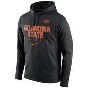 Men's Nike Black Oklahoma State Cowboys Circuit Therma-FIT Performance Hoodie