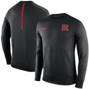 Men's Nike Black Rutgers Scarlet Knights Sideline KO Performance Fleece Crew Sweatshirt