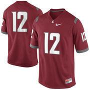 Nike Washington State Cougars #12 Game Football Jersey - Crimson