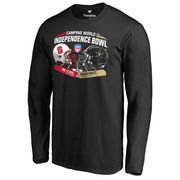 Men's Fanatics Branded Black NC State Wolfpack vs. Vanderbilt Commodores 2016 Independence Bowl Motion Long Sleeve T-Shirt