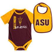 Newborn & Infant Colosseum Maroon/Gold Arizona State Sun Devils Rookie Bodysuit & Bib Set
