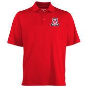 Mens Arizona Wildcats Antigua Red Logo Grande Pique Polo