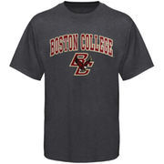 Mens Charcoal Boston College Eagles Arch Over Logo T-Shirt