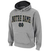 Men's Stadium Athletic Gray Notre Dame Fighting Irish Arch & Logo Pullover Hoodie