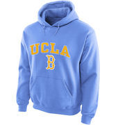 Men's New Agenda Light Blue UCLA Bruins Midsize Arch Over Logo Hoodie