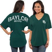 Women's Green Baylor Bears Spirit Jersey Oversized T-Shirt