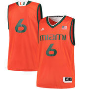 Men's adidas Orange Miami Hurricanes Replica Basketball Jersey