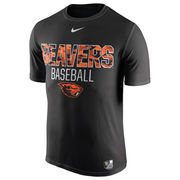 Men's Nike Black Oregon State Beavers Baseball Team Issue 1.6 Performance T-Shirt