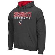 Mens Cincinnati Bearcats Charcoal 3 Stack II Pullover Hoodie