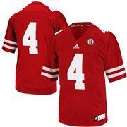 Nebraska Cornhuskers adidas No. 4 Premier Football Jersey - Red