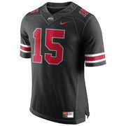 Men's Nike #15 Black Ohio State Buckeyes Black Pack Limited Plus Plus Football Jersey