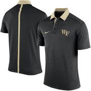 Men's Nike Black Wake Forest Demon Deacons 2015 Coaches Sideline Dri-FIT Polo