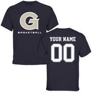 Georgetown Hoyas Personalized Basketball T-Shirt - Navy Blue